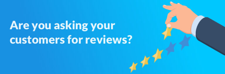 Asking customers for online reviews